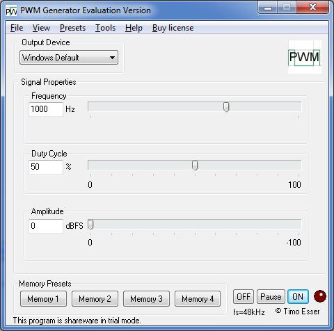 Esser Audio Software - PWM Generator