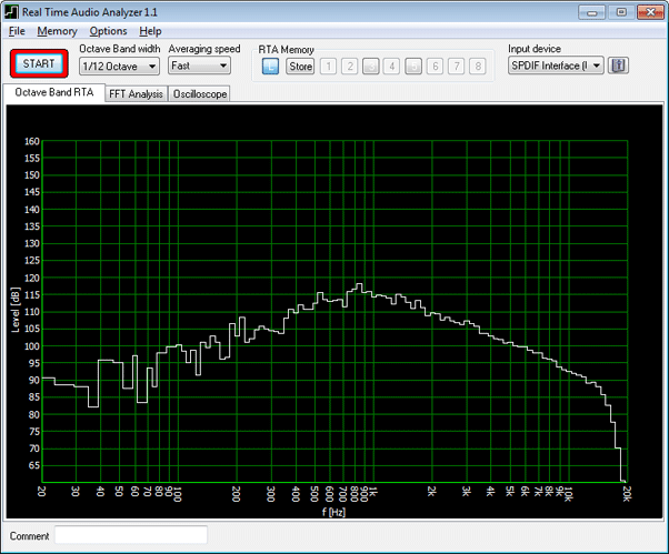 Real Time Audio Analyzer & Oscilloscope Screen shot